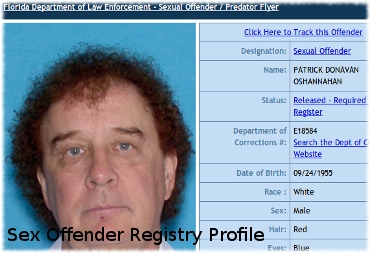 Picture of Sir Patrick O'Shannahan from Hoarders in a sex offender registry profile from Port Charlotte, Florida.